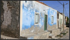 Blue House in Rabil 2, Boa Vista Island, Cape Verde
