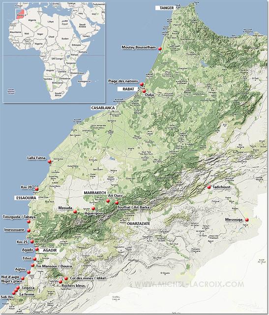 site de parapente au Maroc