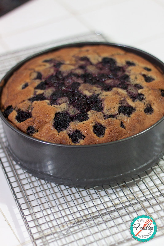 Blackberry, Apple & Bourbon Cake
