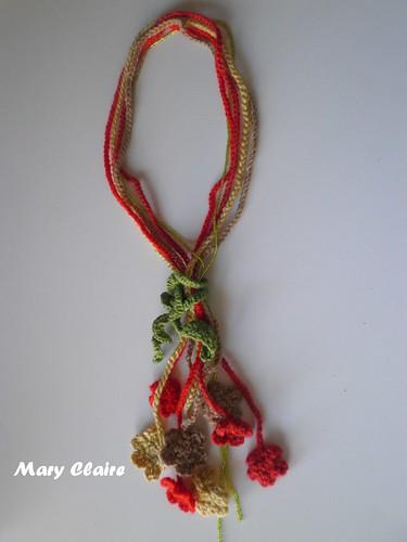 collana fiori rosso-verde