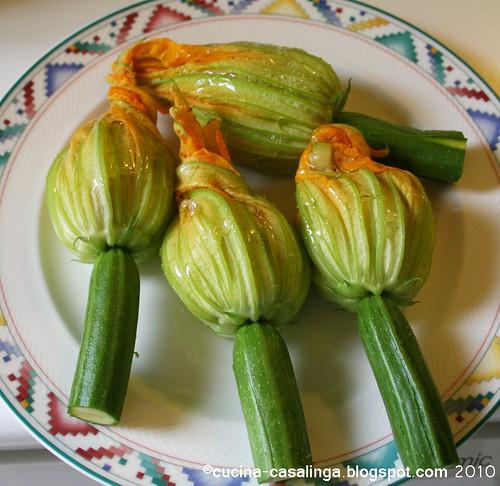 Zucchinibluete Roh