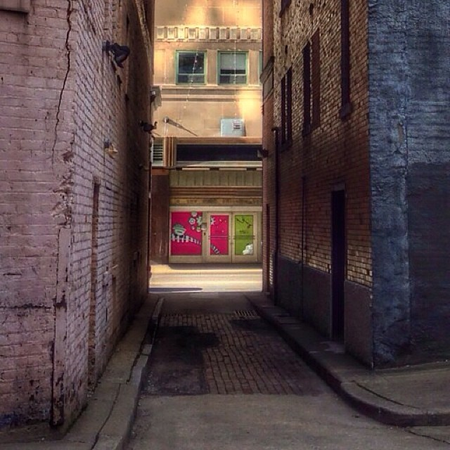 downtown alleys, I've walked past this alley at least 3,000 times, first time seeing it from this side