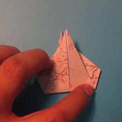 วิธีการพับกระดาษเป็นดาวสี่แฉก 017