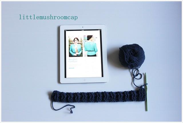 Crochet Rosalind cardigan - first progress Jan week1