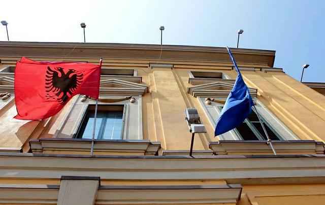Albania Bandeira