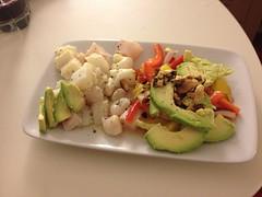 ceviche & mango salad