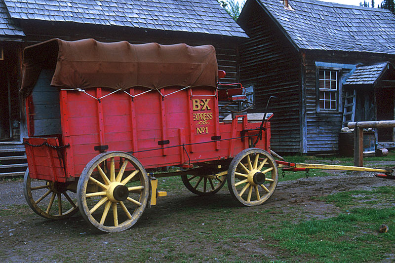 Coach from BX Stage Coach Line, Barkerville, Cariboo, British Columbia, Canada