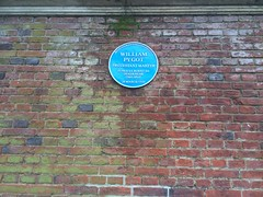 Photo of William Pygot blue plaque