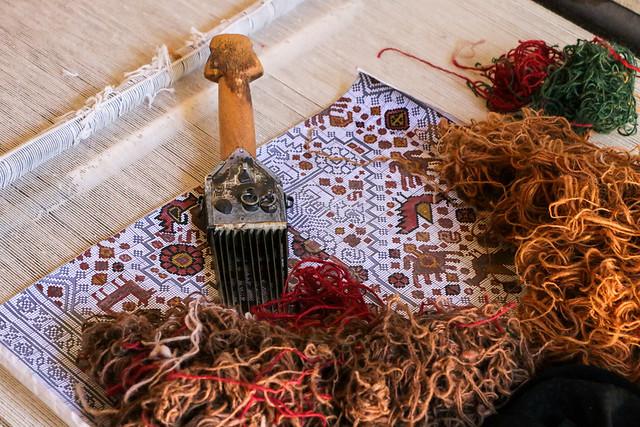 Design paper for qashqai carpet, Firuzabad, Iran フィールーズ・アーバード、カシュガイ族カーペットの図案