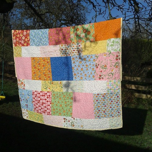 Beautiful baby quilt gift from @trudi_wood :-)