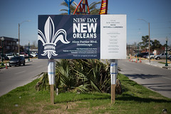 Alcee Fortier Blvd. Streetscape Project sign