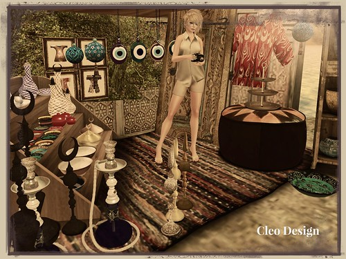 The Challenge - Cleo Design The Bazaar - coldLogic shorts & shirt - Rug by Zigana