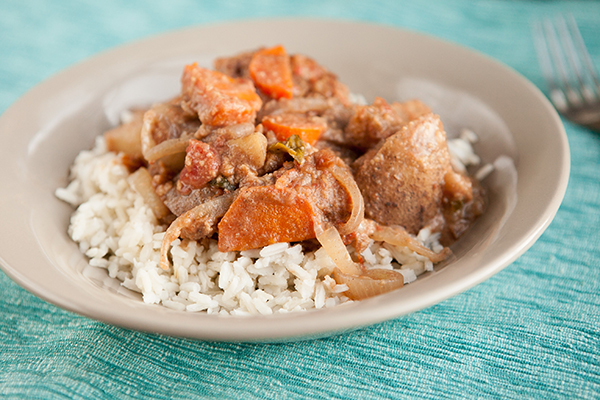 Slow Cooker Peanut Butter Potato Stew Finished 2