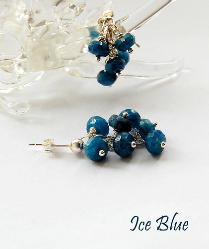 Ice Blue Earrings by gemwaithnia