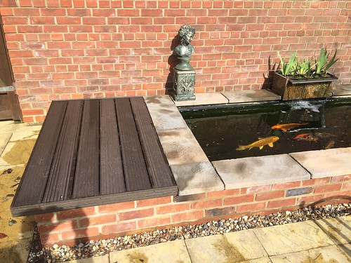 Filter housing cover ideas pond design and construction for Fish pond cover ideas