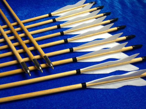 white flame archery wooden arrows