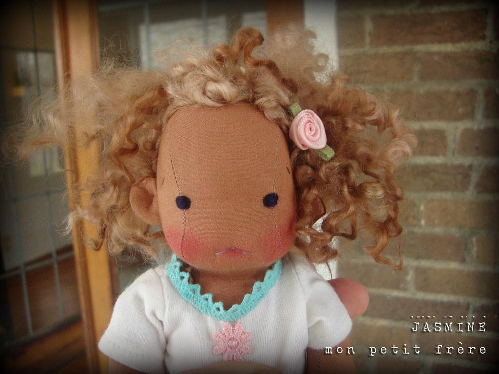 """Jasmine- 8.5"""" Petite Fleur style doll by Mon Petit Frère"""