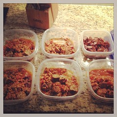 Lunch for the week. And this is only the meat... Are YOU prepared for the week? Or do you have no idea what you\'re going to eat, when and consequently, how much? #crossfit #cfoib #eattoperform
