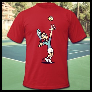 Tennis T-Shirt www.Tekenaartje.nl #tennis #service #serving #sport #Spreadshirt #Zazzle  #Redbubble  #Society6 #dailysketch #dailydrawing #Tshirt #Tshirtdesign  #tekening  #tekenen  #drawing #ontwerp #design