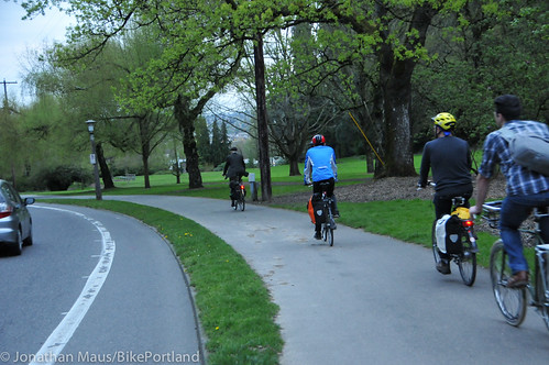 Bike Advisory Committee rides downtown-34