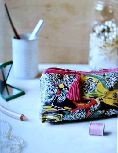 Marbled Fabric Pouch