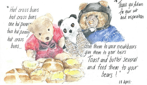 18Apr14 Hot Cross Buns and bears