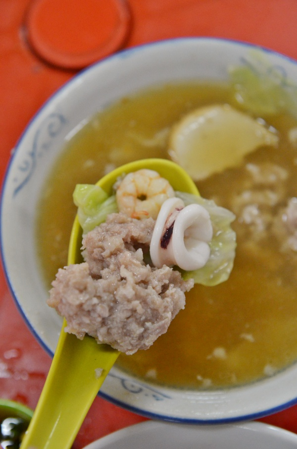 Minced Pork, Squid, Prawn