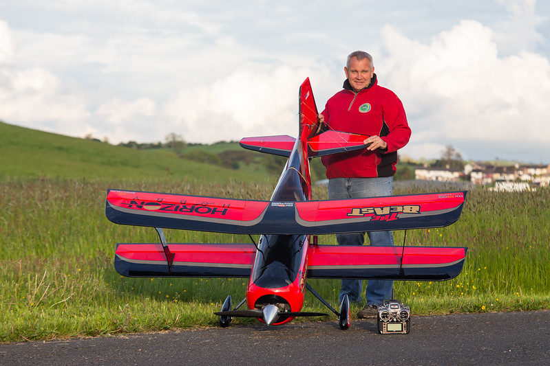 Phil posing with his Hangar 9 Beast.
