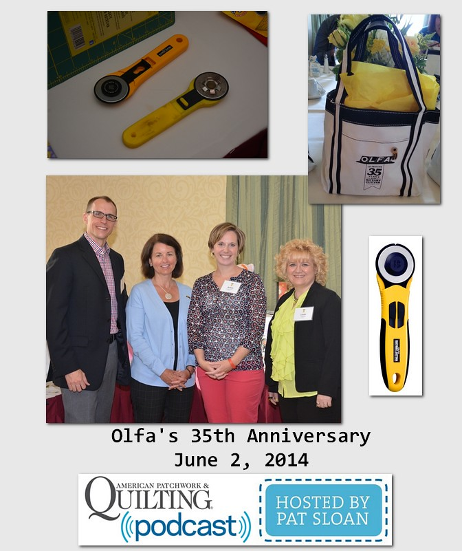 Pat Sloan American Patchwork and Quilting radio Olfa guest