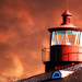 Lighthouse under bloody sky - Point Lookout, MD (On Explore 7/24/2014) by die Augen