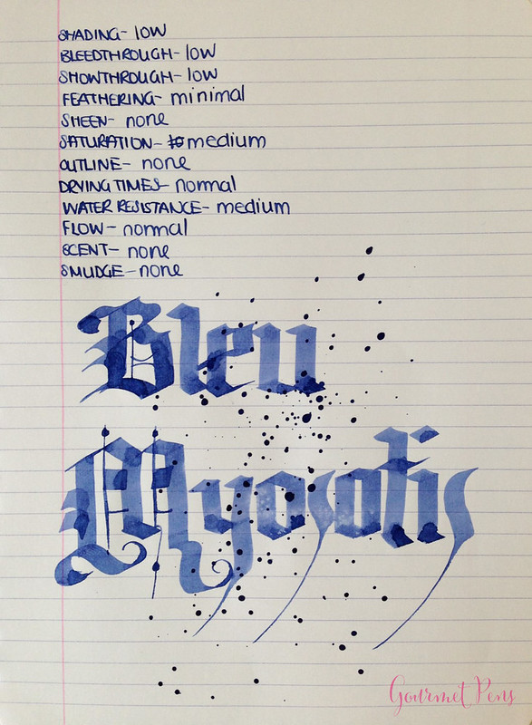Ink Shot Review J. Herbin Blue Myosotis (Forget-Me-Not Blue) @BureauDirect (6)