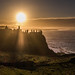 Misty Dunluce Castle Sunset