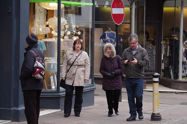 Folks in Abbeygate Street, Pentax K-R, smc PENTAX-DA L 50-200mm F4-5.6 ED