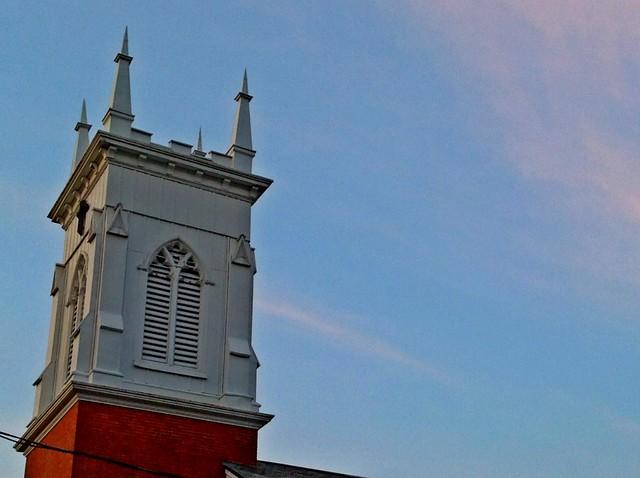 Evening steeple