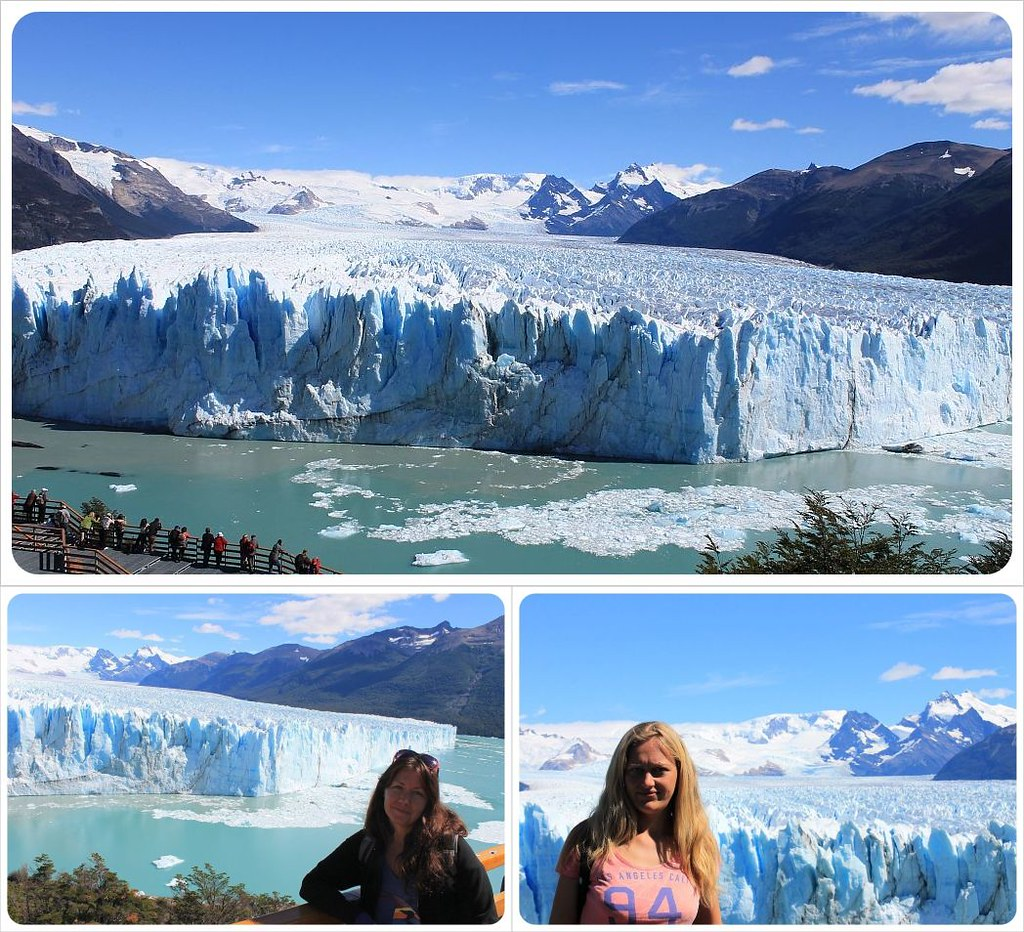 Dani and Jess at Perito Moreno Glacier