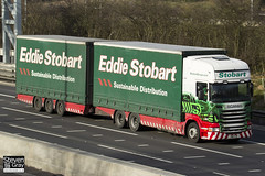 Scania R440 6x4 Curtainside with Drawbar Curtainside Trailer - PN11 YJP - Emma Ann - Eddie Stobart - M1 J10 Luton - Steven Gray - IMG_3177