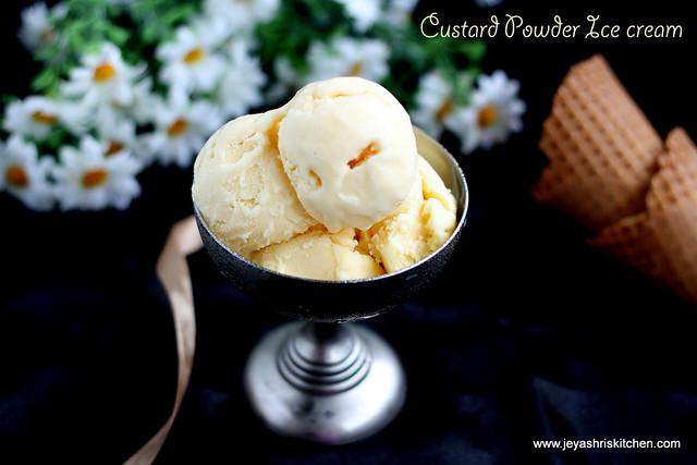 Custard powder ice cream recipe raks kitchen custard powder ice cream ccuart Choice Image