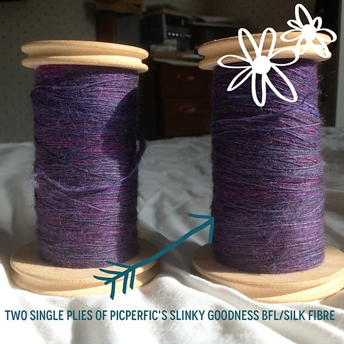 "#Craftphoto pretty singles that are ""resting"" before being plied together."
