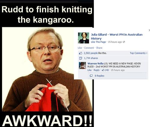 Kevin Rudd Knitting