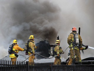 LAFD Battles Major Emergency Industrial Blaze in South Los Angeles
