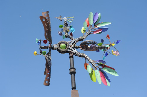 Blue sky whirligig, Panasonic, San Jose, California, USA by Wonderlane