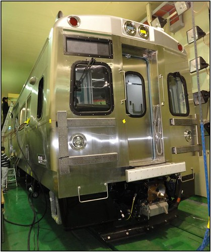 Photo of commuter rail pilot car at Hyundai plant