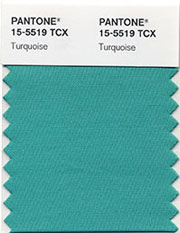 turquoise - Pantone's colour of 2010