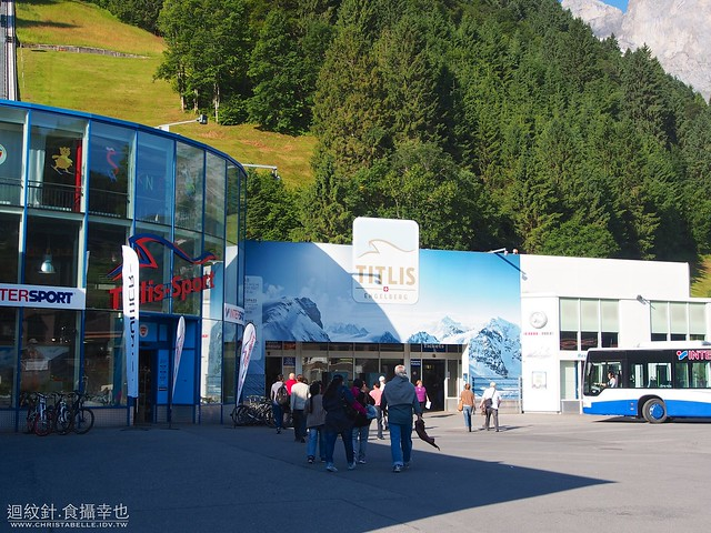cable car station in Engelberg