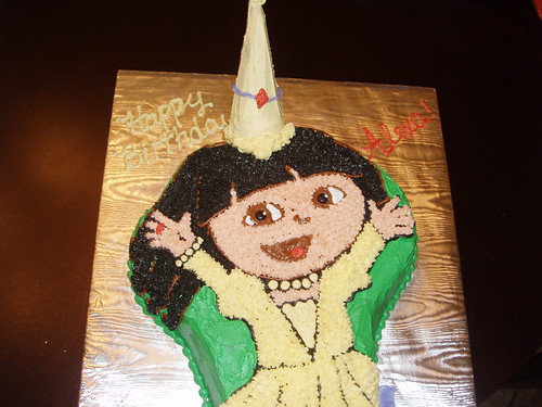 Dora the Explorer Shaped Cake