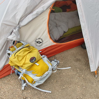 My camping gear.  July 2013