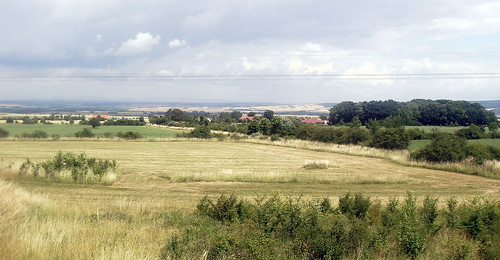 view of the countryside area between Erfurt and Weimar