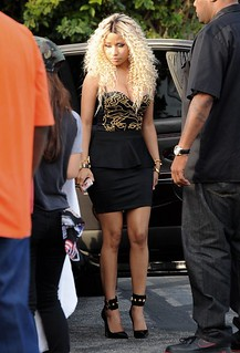 Nicki Minaj looking sexy as hell on the set of Chris Browns love more video
