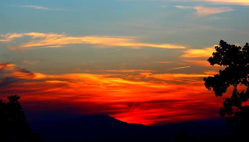 sunset red orange yellow clouds virginia va 365 blueridgemountains blueridgeparkway 2013 081613