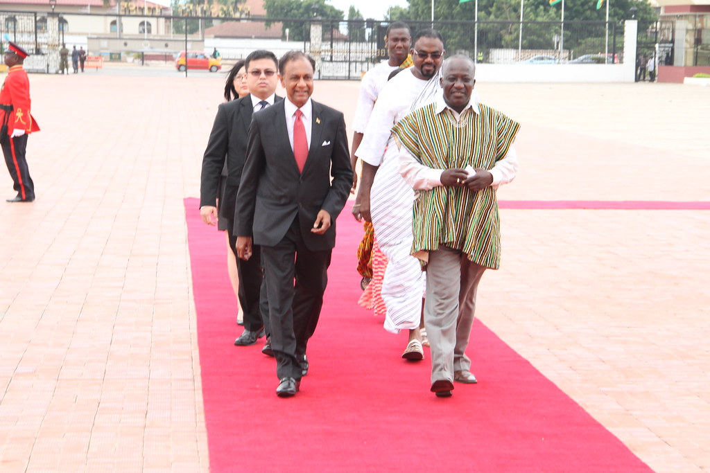 H  E  Dileep Nair on arrival in the Flagstaff House | Flickr